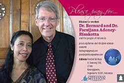 Dr. Bernard and Dr. Farsijana Adeney-Risakotta Prayer Card