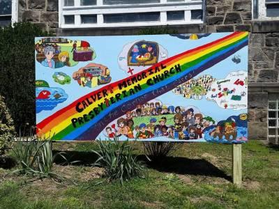 Crestfield Camp art mural