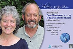 Prayer card - Rev. Sara Armstrong and Rusty Edmondson