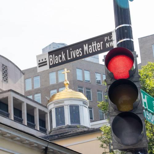 Black Lives Matter street sign