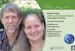 Prayer card - Jeff and Christi Boyd