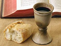 Photo: bread, cup and bible