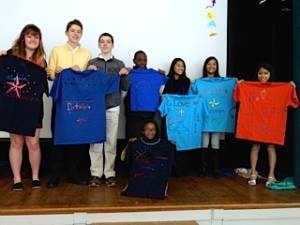 Youth of Ginter Park Presbyterian Church in Richmond, Va., decorated T-shirts for the Ditekemena