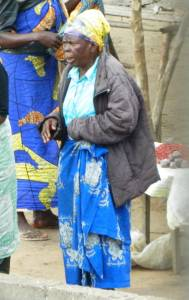Mamu Marie at the market selling peanuts