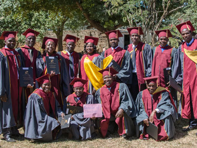 Justo Mwale University's 2016 BTh graduates -- All are now serving in congregations.