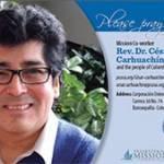 Cesar Carhuachin prayer card