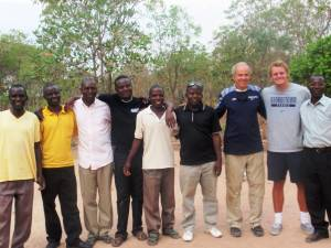 Dr. Karl Klontz and colleague Shane Korber with Chasefu students