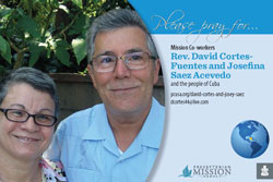Rev. David Cortes-Fuentes and Josefina Saez Acevedo Prayer Card