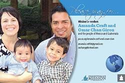 Amanda Craft and Omar Chan Giron Prayer Card