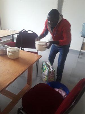 Emmanuel fixing lunch