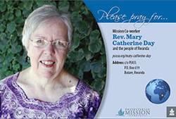 Prayer card - Rev. Kay Day