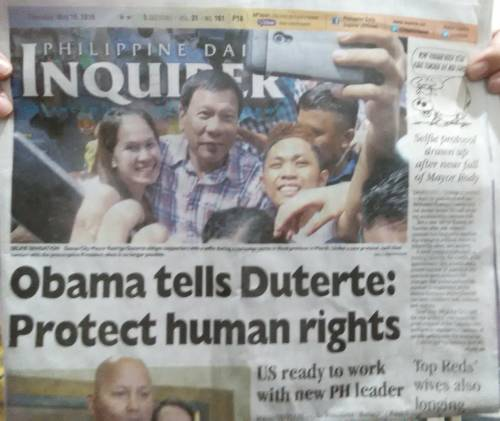 May 19 headline from Philippine Daily Inquirer