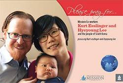 Kurt Esslinger and Hyeyoung Lee prayer card