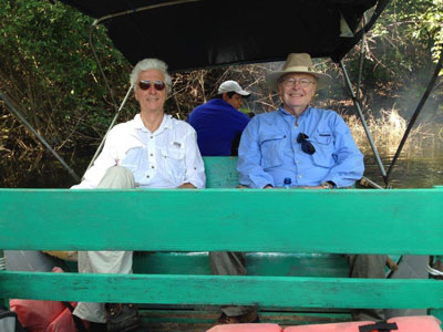Fred and Chuck on the Passion River, en route to Aguateca