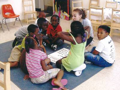 Students participate in Freedom School program at C N Jenkins Memorial Presbyterian Church in Charlotte, N.C.