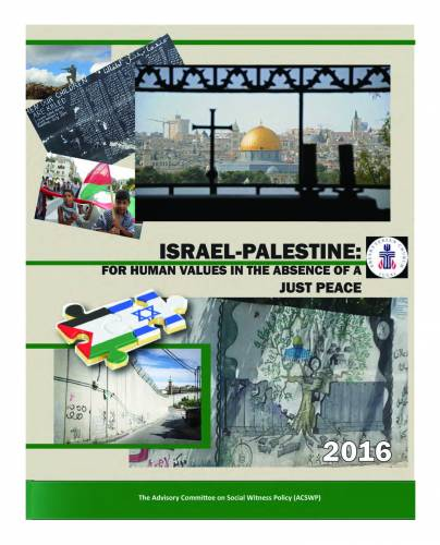 Israel-Palestine: For Human Values in the Absence of a Just Peace cover