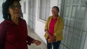Nilza, the director of the school, and her sister Jorcele who was assistant director