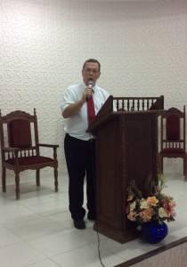 Gordon preaching at the Christmas service