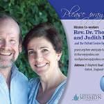 Tom and Judy Harvey Prayer Card