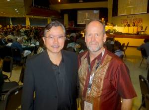 With a colleague from Singapore