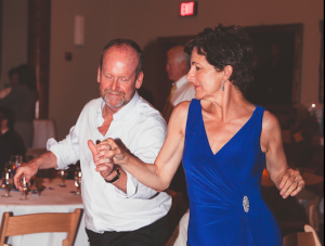 Tom & Judy dancing at the reception.