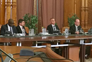 Tom (far right) at conference in Bucharest