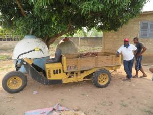 On the grounds of a high school which the church runs in the town of Kpalime, there is a farm which produces food for the students. It makes use of a vehicle donated by Second Presbyterian Church of Indianapolis, IN.