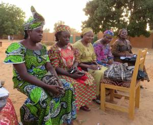 The women's fellowship at a congregation in Niamey, Niger. The women are the backbone of congregations in Niger, providing important leadership and organization, even though the church there does not currently ordain women.