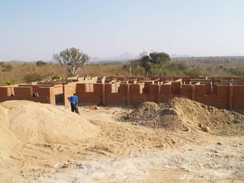 University of Livingstonia Ekwendeni campus; new female dormitory under construction (September 2015)