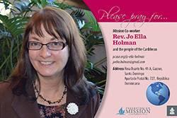 Jo Ella Holman Prayer Card