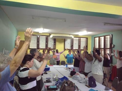 Praise with the PW group