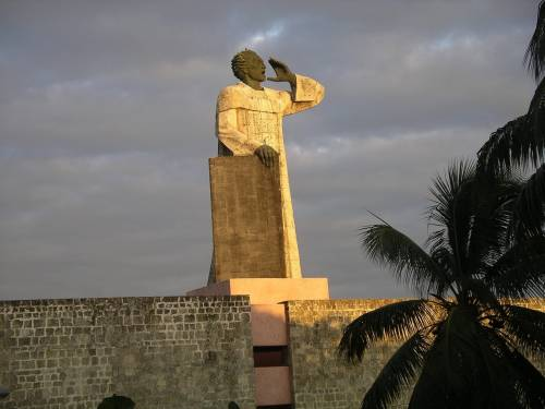 Statue of Antonio de Montesinos in Santo Domingo, calling the faithful to action