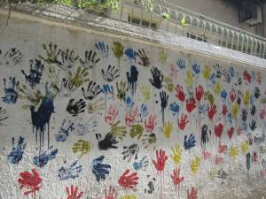 The city of Homs and the art painted in the streets by residents after they returned from three years of exile while extremists held the city. About 400 families have returned so far and say they don't plan to leave again. —Scott Parker