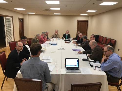 Members of Foothills Presbytery and the PC(USA) Advisory Committee on Social Witness Policy (ACSWP) meet in South Carolina. (Photo provided)