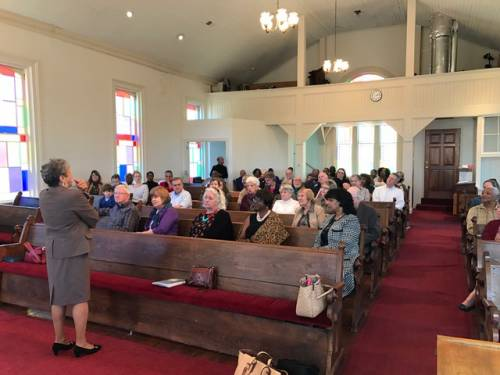 An open forum discussion at the meeting hosted by Foothills Presbytery and the PC(USA) Advisory Committee on Social Witness Policy (ACSWP) in South Carolina. (Photo provided)