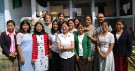 Women students at John Roberts Seminary in Shillong, Northeast India awaiting a new women's dormitory and praying for support from Presbyterian Women in the USA. By Susan Hudson