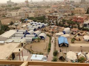 A camp for internally displaced persons in Erbil, Iraq —Scott Parker