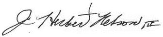 J. Herbert Nelson III signature