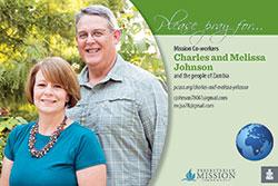 Charles and Melissa Johnson Prayer Card