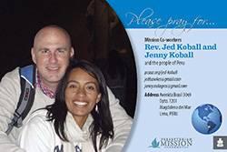 Jed and Jenny Koball Prayer Card
