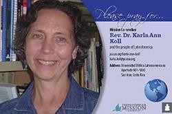 Karla Ann Koll Prayer Card