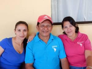 Costa Rican smiles: Kattya Fernandez, Silvestre Cortes and Wendy Garro of the UBL staff