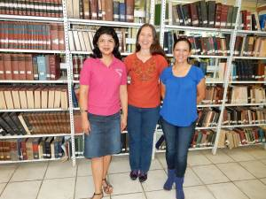 Karla (center) with UBL staff members Jackie Brenes and Vanessa Zuñiga