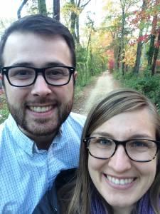 Dexter and Liz Kearny on a trail in Princeton, N.J. —Liz Kearny