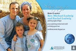 Rev. Michael and Rachel Ludwig Prayer Card