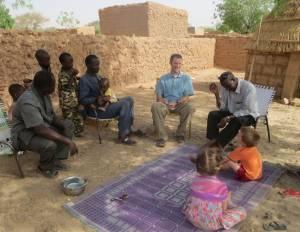 Sharing encouragement with a village evangelist