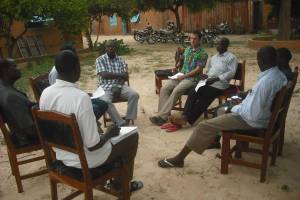 A evening small group discussion at the consultation