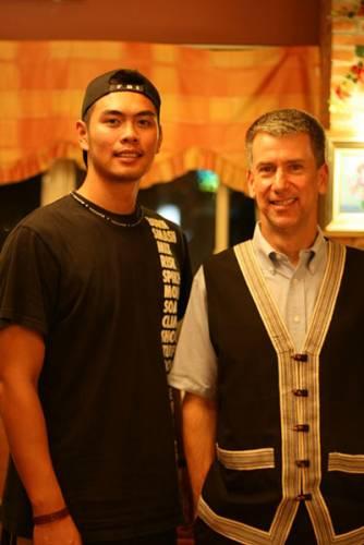 John with baseball pitcher Lwo Shau-long