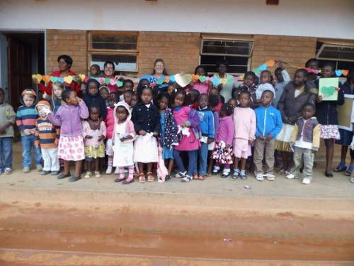 Jodi with her Sunday School class on her last day teaching