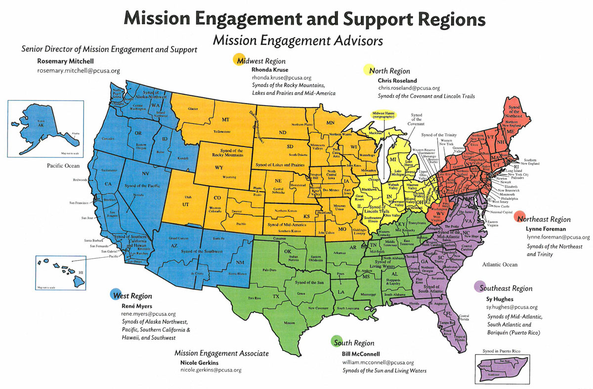 Mission Engagement regions map